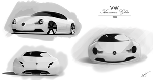 VW Karmann Ghia 2012 concept by AS001