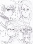 My Bleach Boys-Sketch Plan-1 by MoonGodess157