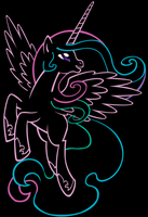 The Princess- Black Background by purplefairy456