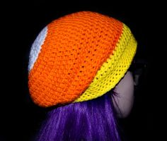 Candy Corn Slouchy Beanie by rainbowdreamfactory