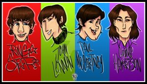 The Beatles by Albert-Lopez