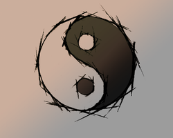 Ying Yang Wallpaper by WooChoo