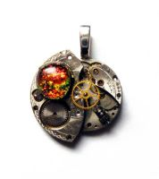 Steampunk Heart of the Tinman2 by Create-A-Pendant