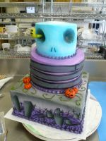 Tim Burton wedding cake 2 by keki-girl