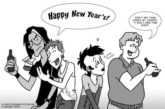 No New Year's Kiss by LadyAttercop