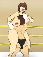 Wrestling Lisa 01 by redzombie88