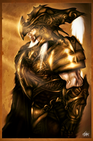 Golden Armor Knight by mlappas