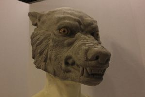 Finished Werewolf sculpture by FeralWorks