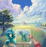 Painter in Equestria by Hunternif