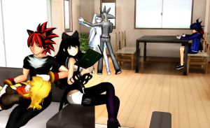 Sonic and RWBY Chill Time by CyrilSmith