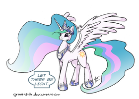 MLP: Blackest Night - Celestia by Cynos-Zilla