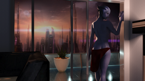 City Lights and Asari Sights by DarklordIIID