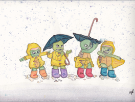 Turtle Tots in the Rain by didiyaya107