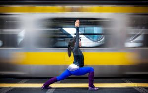 Yoga in the City II by burningmonk