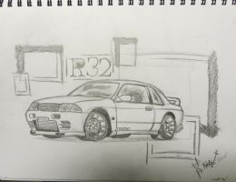 Skyline R32 'Sketch' by LostHelix119