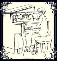 Allen Walker and Piano Sketch by Laiden-Cerise