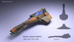 Sci-Fi recon vessel concept 140321 by dm3da