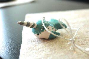 A Baby Narwhal Beckons [Ornament Style] by lonelysouthpaw