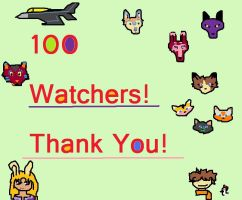 100 Watchers! by SECRET-NINJA-SUPER-M