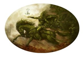 The Green Knight by Giacobino