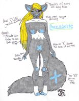 Burnadette temp ref by furrycrusader17
