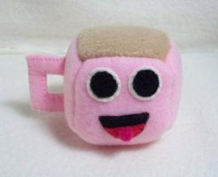 Coffee Cup Cube Plushie by JeffSproul