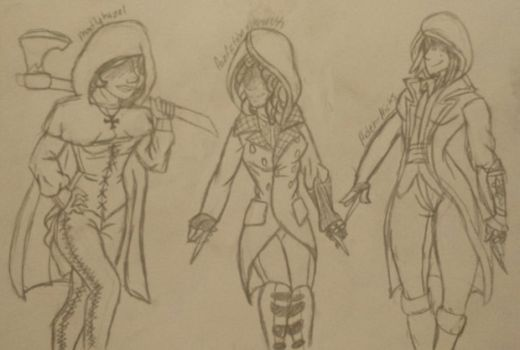 Assassin's Creed: Sisterhood Project - Sketch 8 by iPandaDrawer