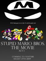 Stupid Mario Bros Movie Poster by WaggonerCartoons