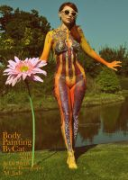 Hey Jude psychadelia 60s body paint biba retro by Bodypaintingbycatdot