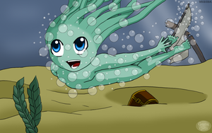 Little Swimming Asrai by GamingGirl73