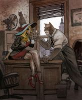 Blacksad by Moritat by AshcanAllstars