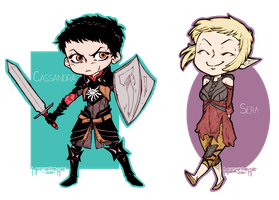 Dragon Age Inquisition - Sera and Cassandra by mortinfamiART