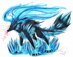 Ice Wolf by BunnyGirl-666