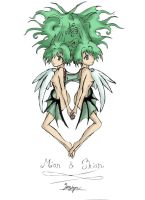 Mion and Shion Fanart by taalaruhun