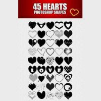Free 45 Heart Custom Shapes by brushesfreedow