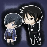 ciel and sebastian chibi-GIF by Danny-chama
