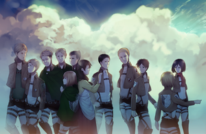 a bunch of dead shingekis (spoilers) by longestdistance