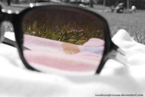 rosarote Sonnenbrille by SunshiinePrincess