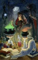 A Night in the Life of a Witch by Jspecht
