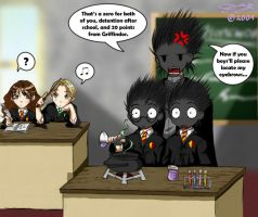 Trouble in Potions... by Tanci