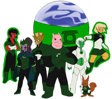 Green Lantern Corps by Gaiash