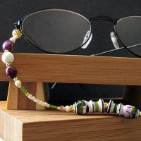 Ceramic Urns Eyeglass Chain by Gilliauna