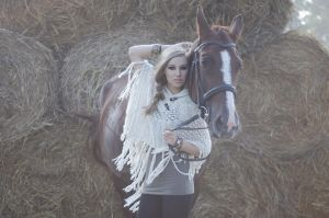 Alexandra with horse by ZzaniazZ