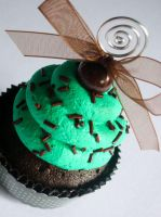 Choco-Mint Faux Cupcake - 02 by CreativeAbubot