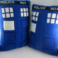 Doctor Who Tardis Pillows by LittleCritters00