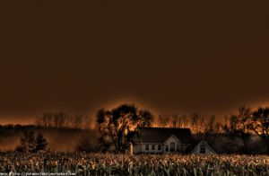 Foggy house HDR by jedimarajade2