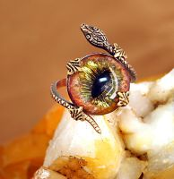 Snake Eyes Ring by byrdldy
