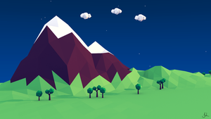 Low Poly Mountain by jordanlang2