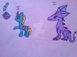 MLP Willow and Hades by MagicPhoenixstonedra