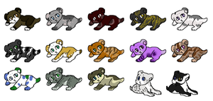Baby adoptables batch 1 (really cheap prices!) by Silversadopts